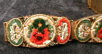 Jewelry  Mosiac Bracelet - Vintage Estate Jewelry