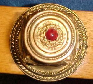 Red Ruby Top  INKWELL - Glass