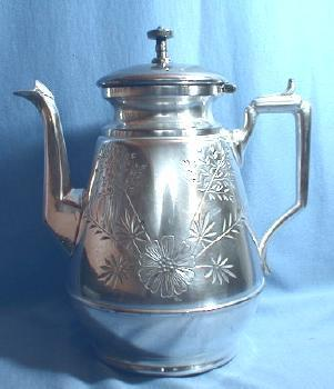 vintage Meriden Silver Plate Coffee Pot  Silverplate