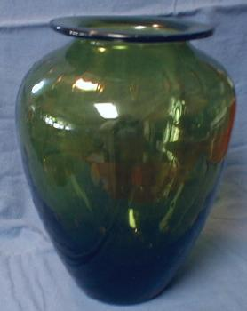 Blenko Art Glass Vase - Mid Century with Controlled Air Bubbles