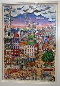 Charles Fazzino 3-D Serigraph - OH -LA-LA PARIS - FAL # 75/475 - Artist Signed color