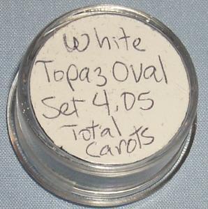 White TOPAZ Oval Stone Set - Jewelry