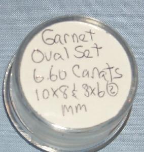 GARNET Stone Oval Set - Jewelry