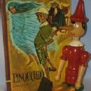 PINOCCHIO Jointed Wood Figurine and Book - Toys