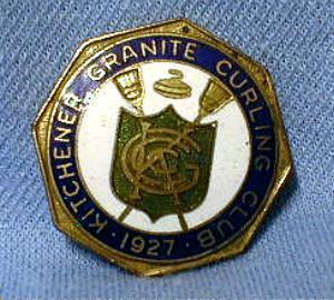 old Kitchener Granite Curling Club Pin Sport