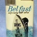 Musical Cigarette Lighter BEL FAST Self-ironing 100% Cotton Advertising - tobacciana NIB