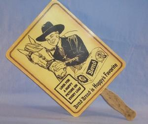 Reproduction HOPALONG CASSIDY Bond Bread Advertising Fan