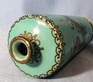 Oriental Silver Overlay Pottery Vase - Antique Asian Ethnographic