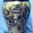 Oriental FOO DOG Vase Asian Ethnographic - Antique Oriental Pottery