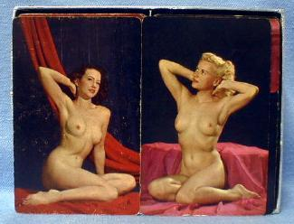 Risque NUDE Studio Playing Cards  - Vintage Advertising for Welding Supply Company Detroit Michigan - Advertising paper