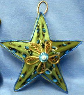 Christmas STAR Ornament -  Figural STAR   - German Holiday Misc