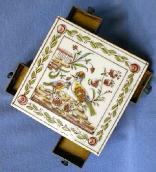 Tea Tile Trivet & Match Strike & Holder  Hand Made Fold Art
