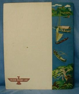 Nautical  SS  Wilson Menu  1949 Steamship Menu - American President Lines - Paper advertising
