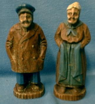 BURWOOD Figures of SEA CAPTAIN Man & Woman - Vintage Composition