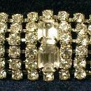 Jewelry  Rhinestone Bracelet  - Vintage Costume Jewelry