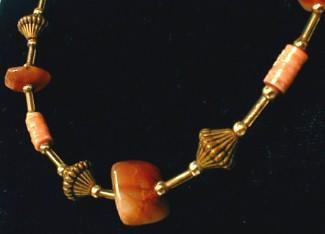 vintage Agate Necklace - 1960s Retro Estate Costume Jewelry