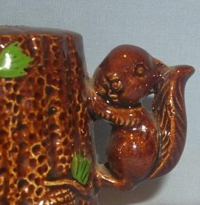 SQUIRREL Handled Porcelain Salt and Pepper Shakers