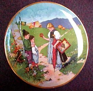F. Reils Charger METTLACH - Porcelain/Fine China