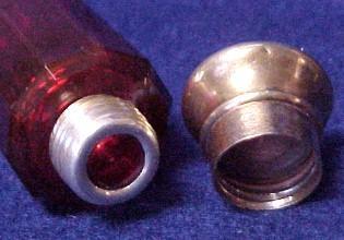 Cut Glass Ruby Perfume Vintage  - Glass