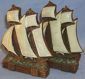 Pair SAILING SHIPS Bookends - Misc.