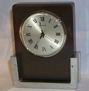 BULOVA Desk Top Alarm Clock - Metalware