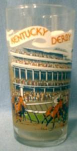 Limited  Kentucky Derby  Glass Tumbler 1979 Souvenir -  Equestrian Sporting
