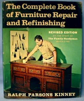 old vintage Complete Book of Furniture Repair & Refinishing - Book -  Vintage Paper