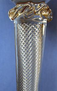 Art Nouveau Champagne Goblet or  Compote - Antique Victorian Art Glass
