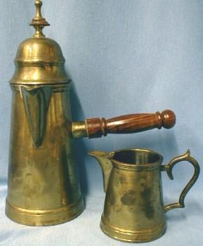 Cappuccino EXPRESSO Coffee Pot & Creamer Set - Brass