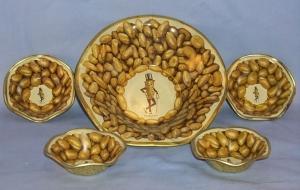 Planters Peanuts 5 Piece Tin Nut Bowl Set