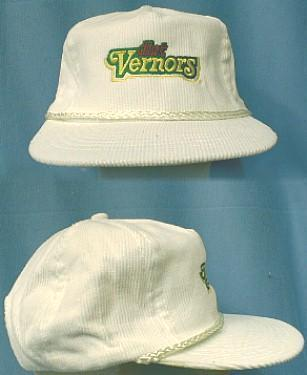 Diet Vernors Baseball Truckers Hat - Vintage White Corduroy Hat - Advertising Apparel