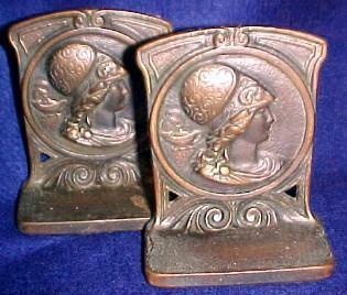 Bronze Bookends Book Ends - Metalware