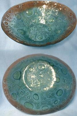 Art Glass Freeform Bowl - Lava Texture