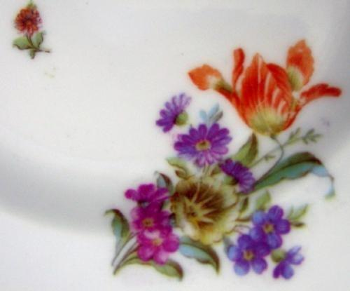 German Hutschenreuther 12 pc. Ice Cream or Dessert Shallow Bowl or Plate Group - Antique German  Porcelain