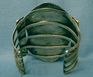 Navajo Indian Genuine Turquoise & Silver Cuff - Massive Vintage Ethnographic Jewelry