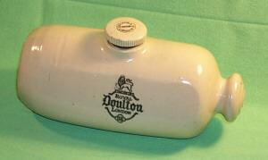 Advertising for Royal Doulton Pottery/Stoneware Foot Warmer