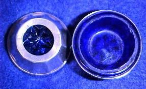 Sterling Cobalt Open Salt Dip - Glass