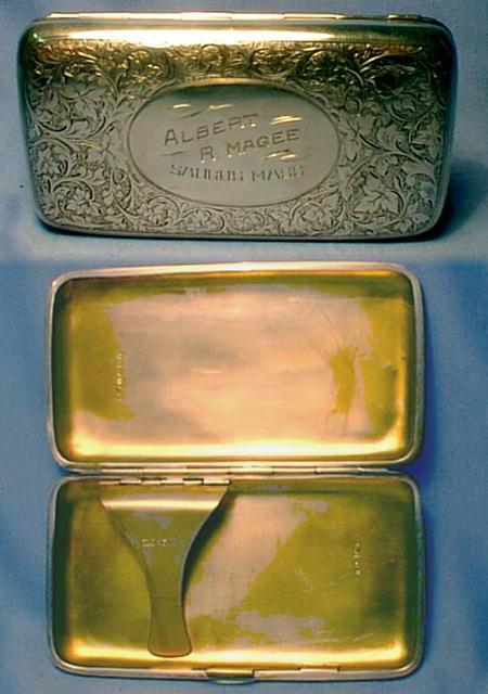 Sterling Cigar Pocket Box - Tobacciana
