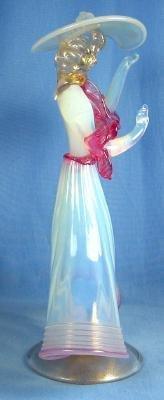 Art Deco Dancing Figural Sculptural ~ Itialian MURANO VENETIAN Art Glass Figurine