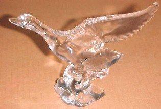 Heisey Mallard Marked WINGS UP - Glass