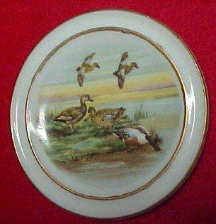 DUCK Pheasant  Bird Dog Butter Patty Set (6) - Porcelain/ Fine China