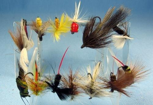 Hand Tied Flies Fishing Lure - Antique Fly Fish Bait - Vintage Sporting