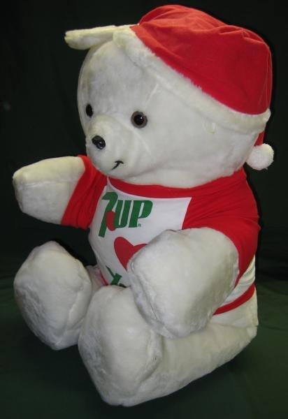 7UP Christmas Holiday TEDDY BEAR - Huge 43