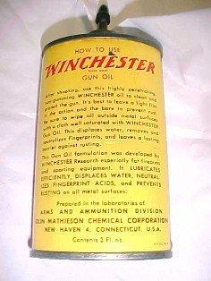 WINCHESTER Gun Oil Tin - Advertising