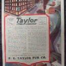 TAYLOR FUR Co. TRAPPERS Shippers Advertising - Paper