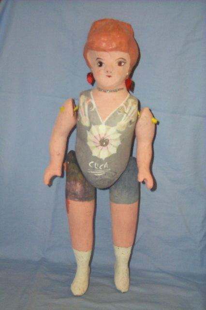 Neiman Marcus CUCA Jointed Paper Mache Doll