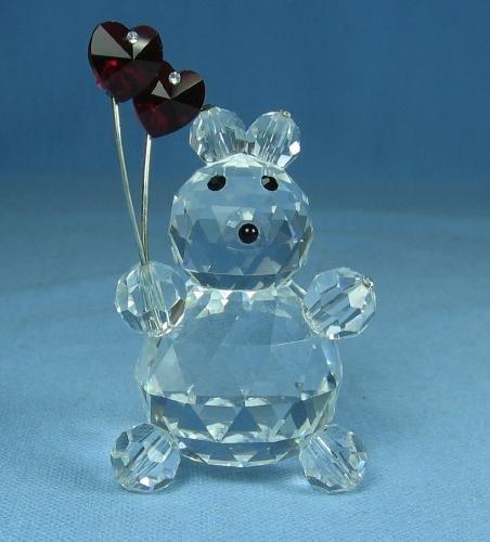 Limited edition  Swarovski Cut Glass SWEETHEART Teddy Bear with Jeweled Hearts