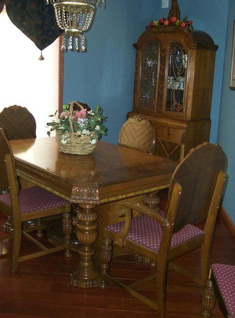 Pleasant Art Deco Waterfall Style Dining Room Set Download Free Architecture Designs Momecebritishbridgeorg