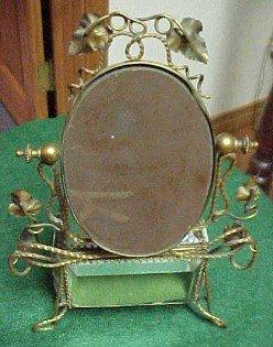 Jewelry Box Casket Beveled Mirror - Glass