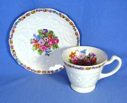 ADAM  Steubenville Pottery Demi Cup and Saucer